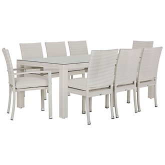 "Bahia White 84"" Rectangular Table & 4 Chairs"