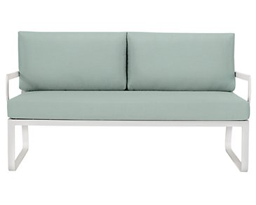 Ibiza Teal Loveseat