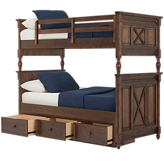 Big Sur Dark Tone Storage Bunk Bed