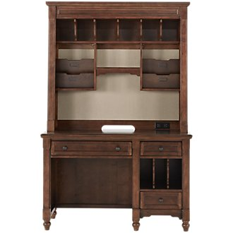 Big Sur Dark Tone Desk And Hutch
