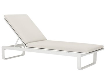 Ibiza White Cushioned Chaise