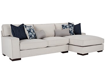 Kendleton Light Taupe Microfiber Right Chaise Sectional