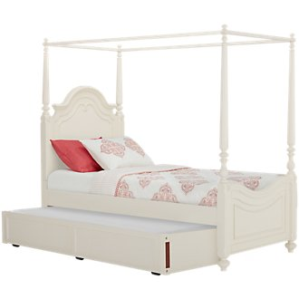 Charlotte Ivory Canopy Trundle Bed