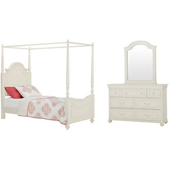 Charlotte Ivory Canopy Bedroom