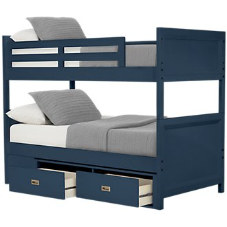 Ryder Dark Blue Storage Bunk Bed