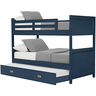 Ryder Dark Blue Trundle Bunk Bed