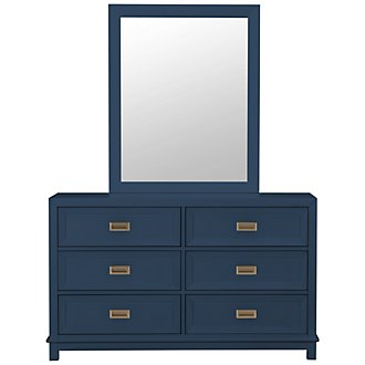 Ryder Dark Blue Dresser & Mirror