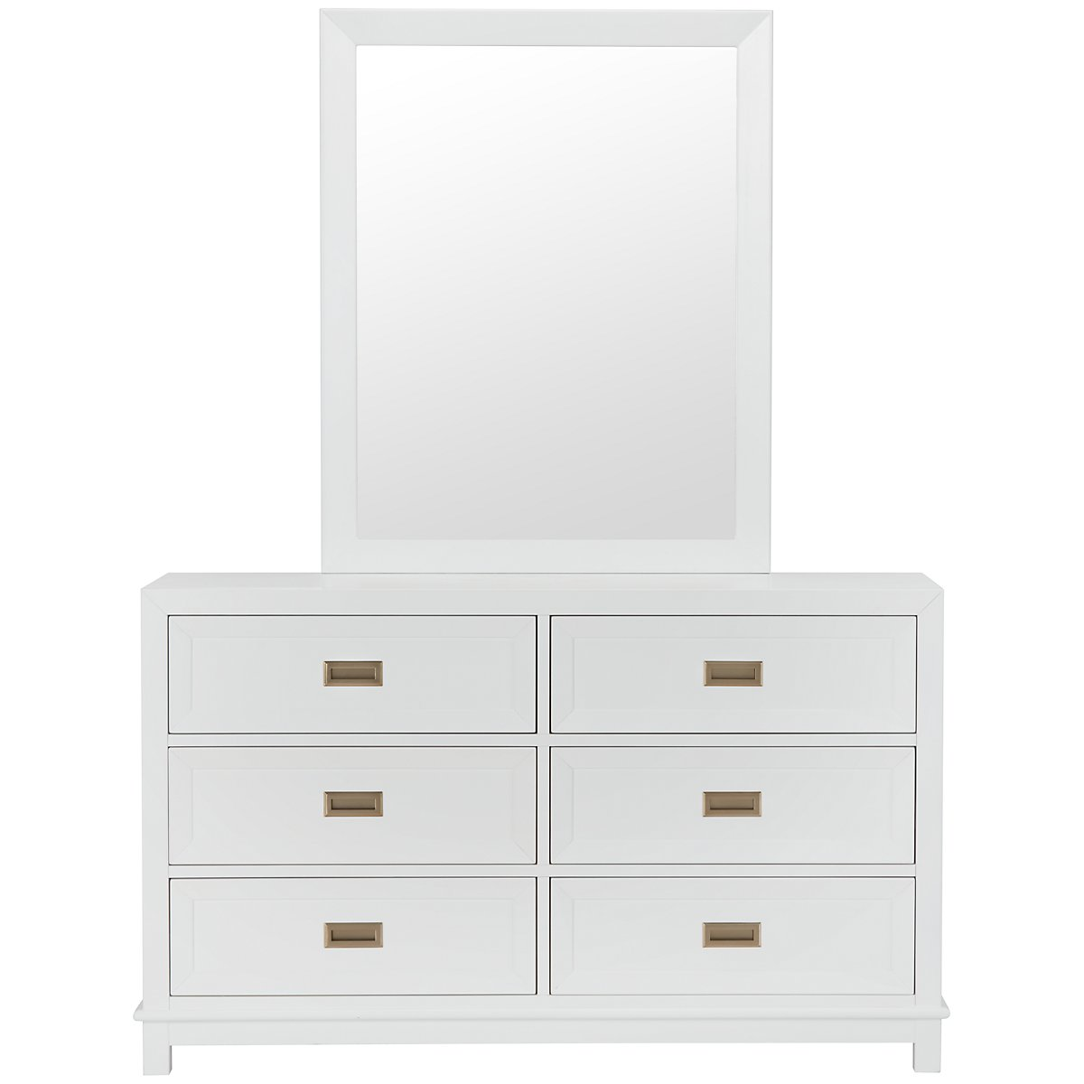 City Furniture Ryder White Dresser Mirror