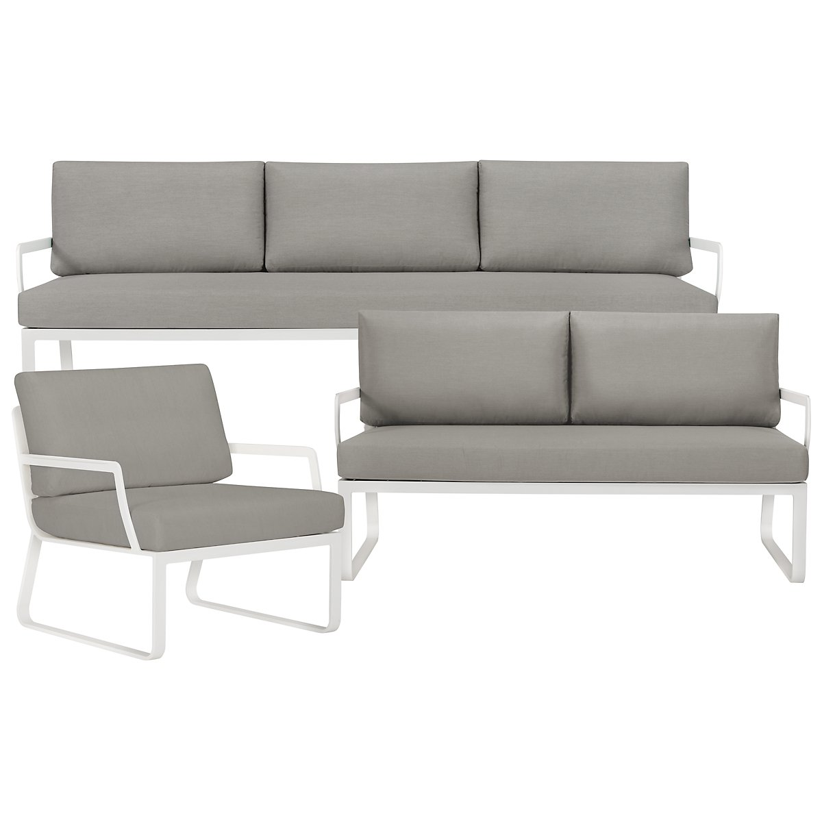 City Furniture Ibiza Gray Outdoor Living Room Set