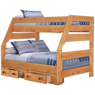 Cinnamon2 Mid Tone Storage Bunk Bed