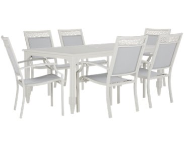 Charleston White Rectangular Table & 4 Sling Chairs