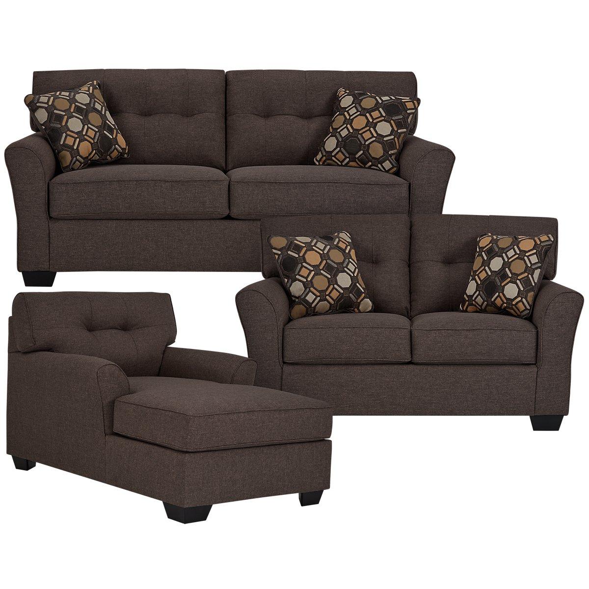 City Furniture Laryn Dark Gray Microfiber Sofa