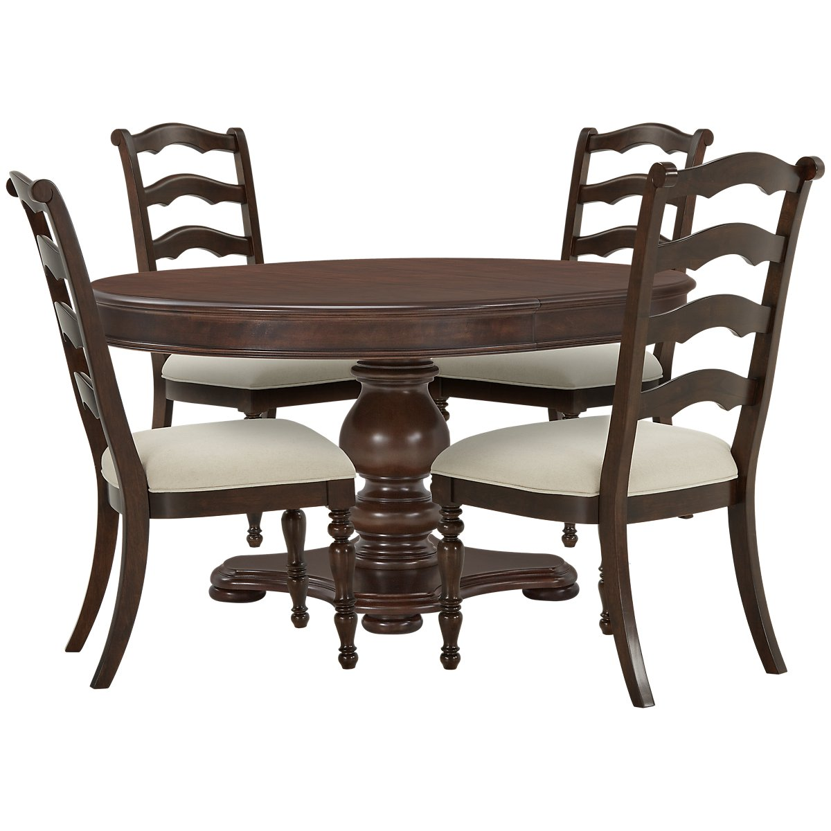 Bayberry Dark Tone Round Table 4 Chairs: City Furniture: Savannah Dark Tone Round Table & 4 Chairs