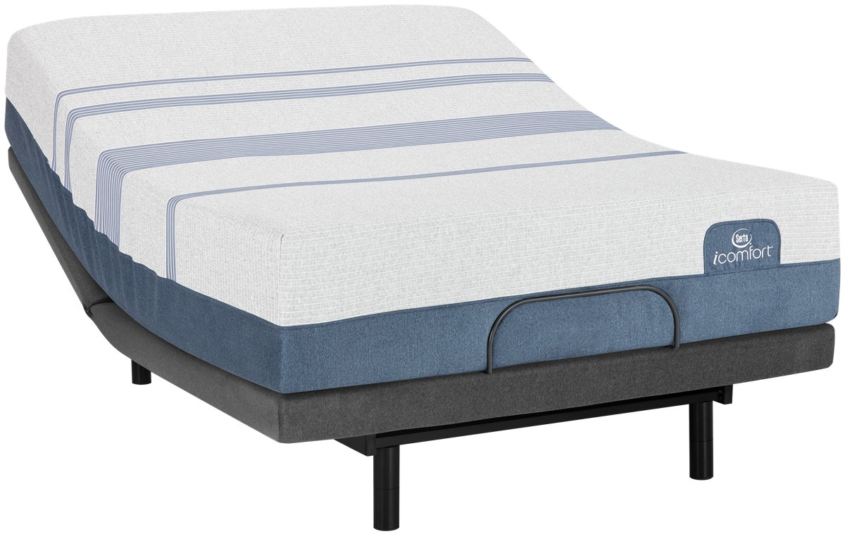 City Furniture Serta i fort Blue Max 3000 Plush Deluxe Adjustable Mattress Set
