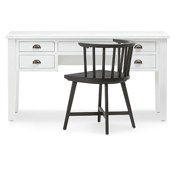 Image Of Kayla White Desk And Chair With Sku 9716683
