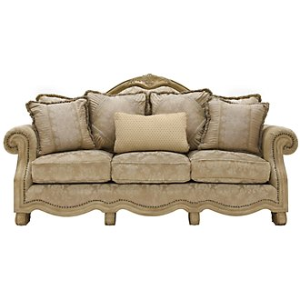 Regal Light Tone Fabric Sofa