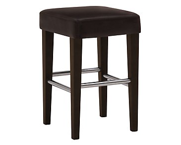 "Kayla Dark Brown 24"" Bonded Leather Barstool"