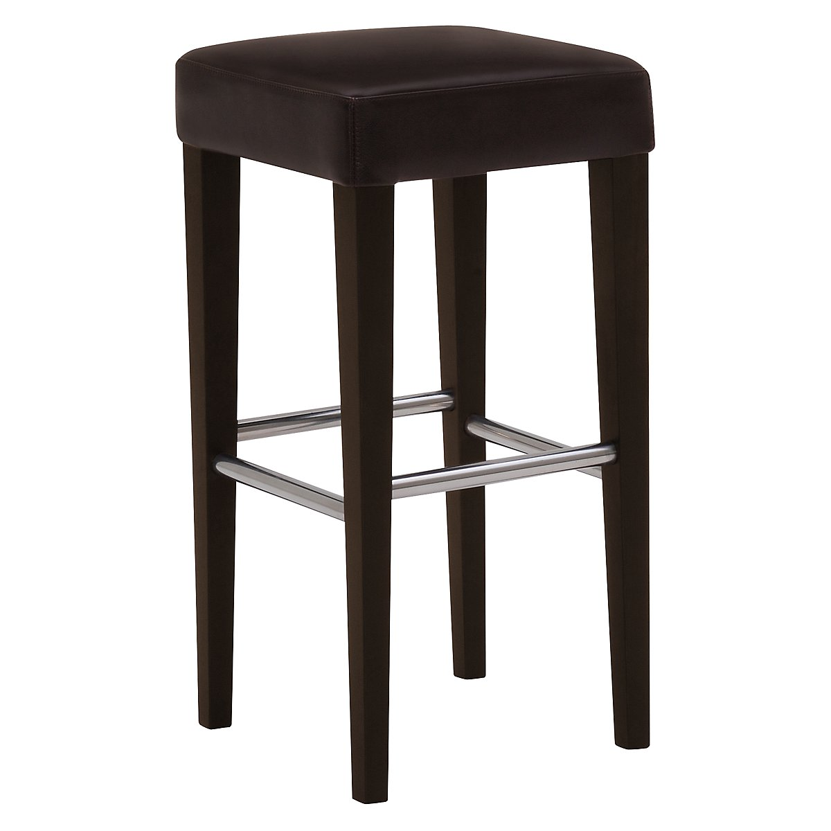 "Kayla Dark Brown 30"" Bonded Leather Barstool"