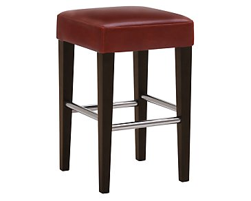 "Kayla Red 24"" Bonded Leather Barstool"
