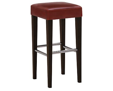 "Kayla Red 30"" Bonded Leather Barstool"
