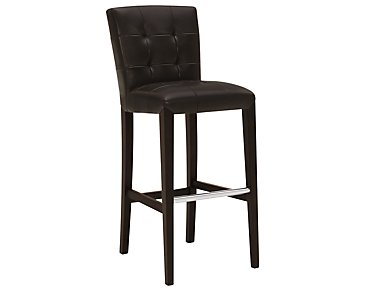"Trisha Dark Brown Bonded Leather 30"" Upholstered Barstool"