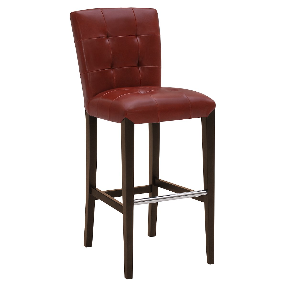 "Trisha Red Bonded Leather 30"" Upholstered Barstool"