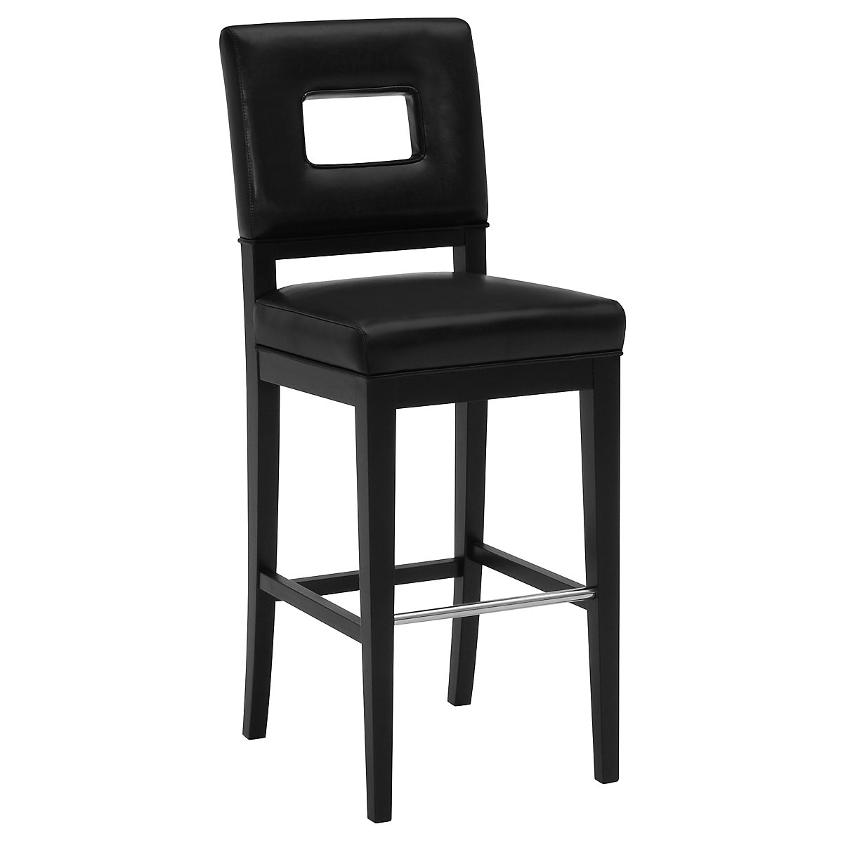 "Aspen Black 30"" Bonded Leather Barstool"