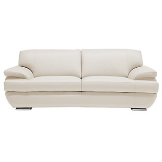 Cordel Lt Taupe Leather Sofa