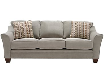 Grant2 Light Green Microfiber Sofa