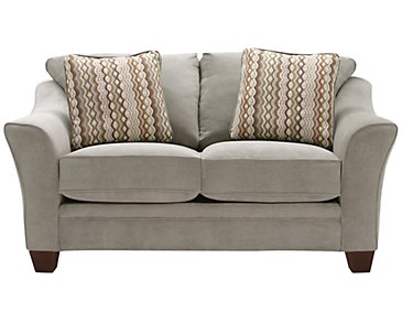 Grant2 Light Green Microfiber Loveseat