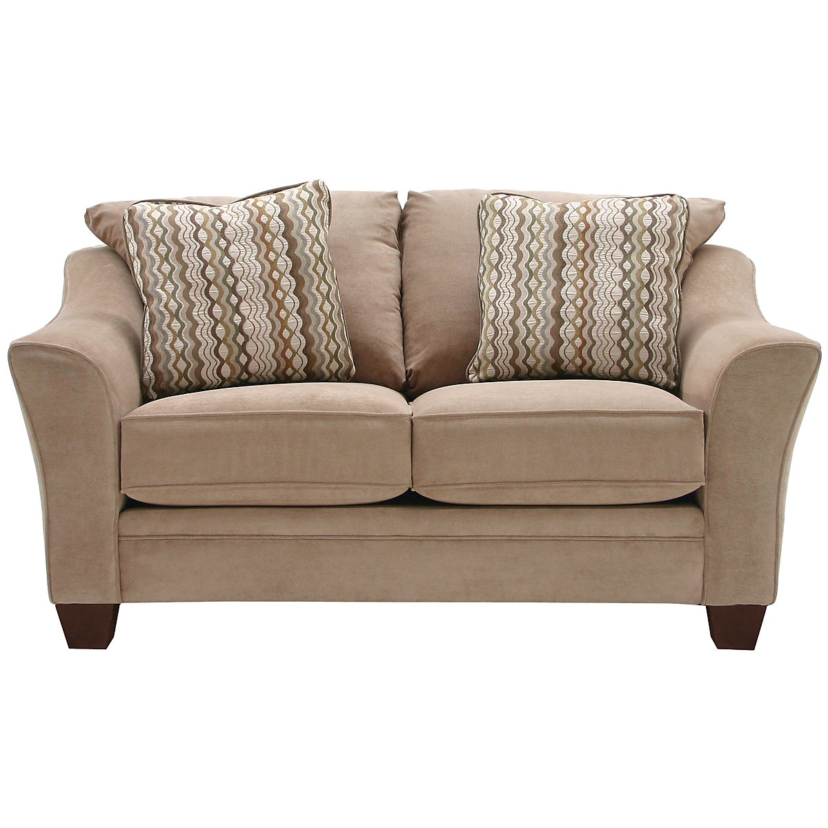Grant2 Light Brown Microfiber Loveseat