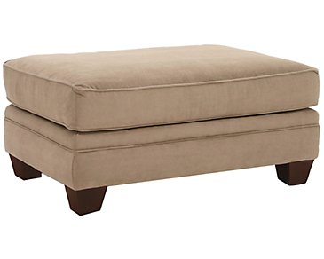 Grant2 Light Brown Microfiber Ottoman
