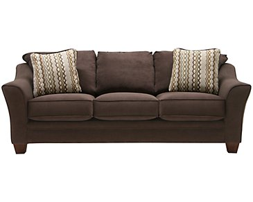 Grant2 Dark Brown Microfiber Sofa