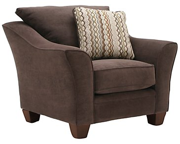 Grant2 Dark Brown Microfiber Chair