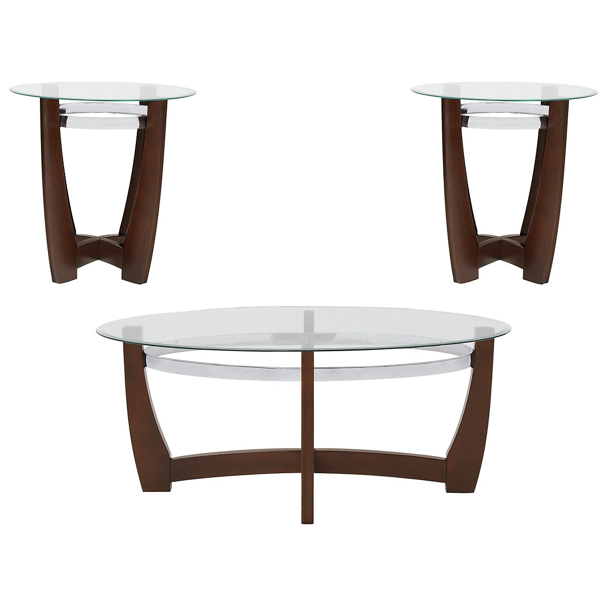 Apollo Mid Tone Glass 3 Pack Tables
