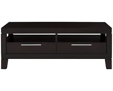 Encore2 Dark Tone Storage Rectangular Coffee Table