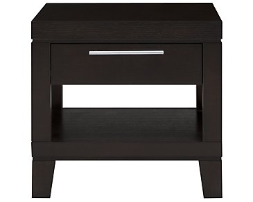 Encore2 Dark Tone Storage Square End Table