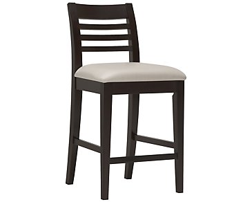 "Encore2 Dark Tone Bonded Leather 24"" Slat Barstool"