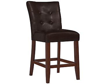 "City Lights Dark Brown 24"" Upholstered Barstool"