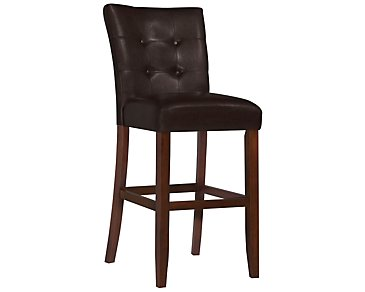 "City Lights Dark Brown 30"" Upholstered Barstool"