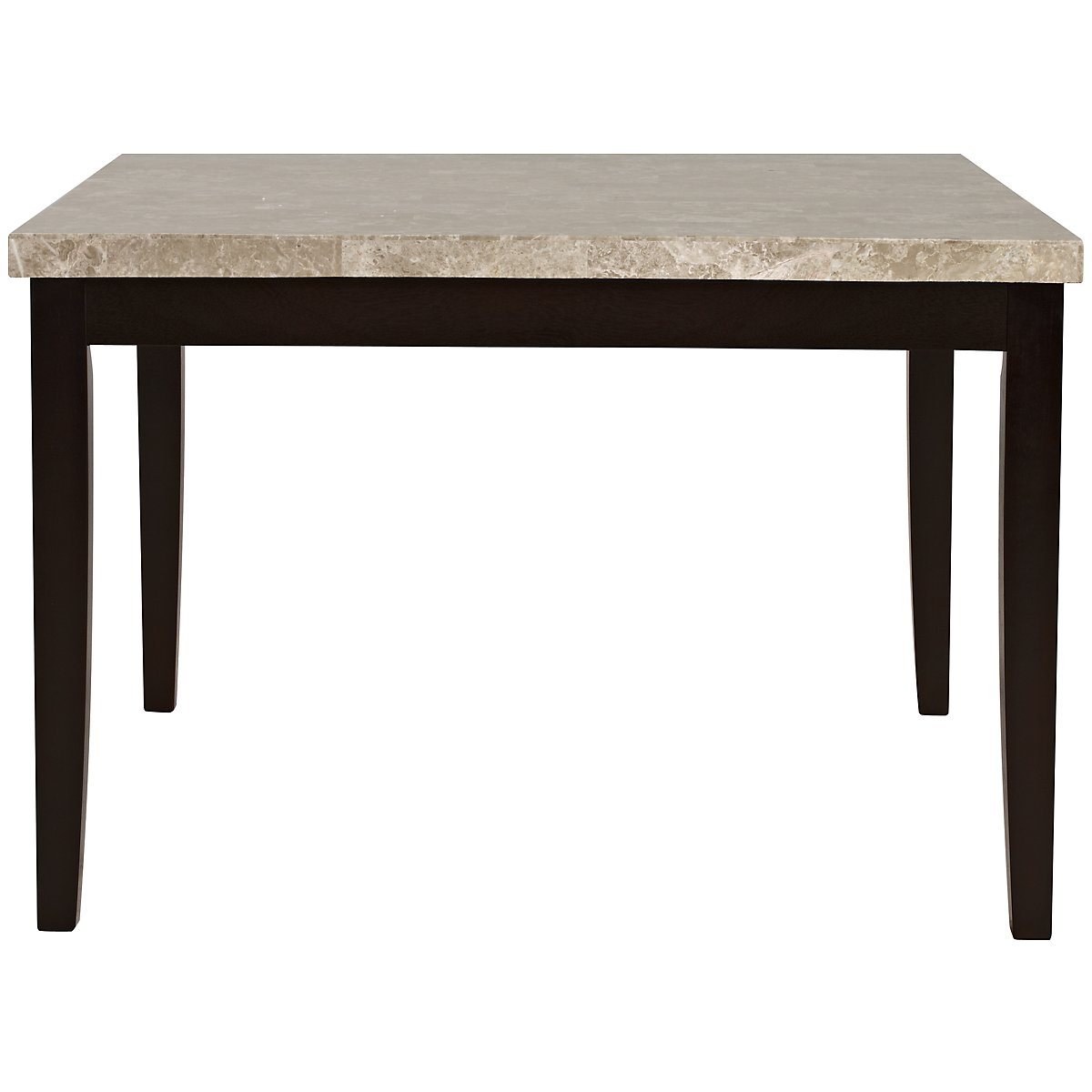 Monark square marble high dining table for Marble dining room table
