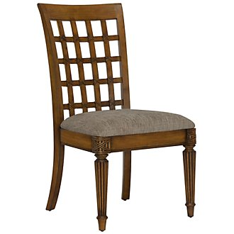 Palm Mid Tone Wood Side Chair