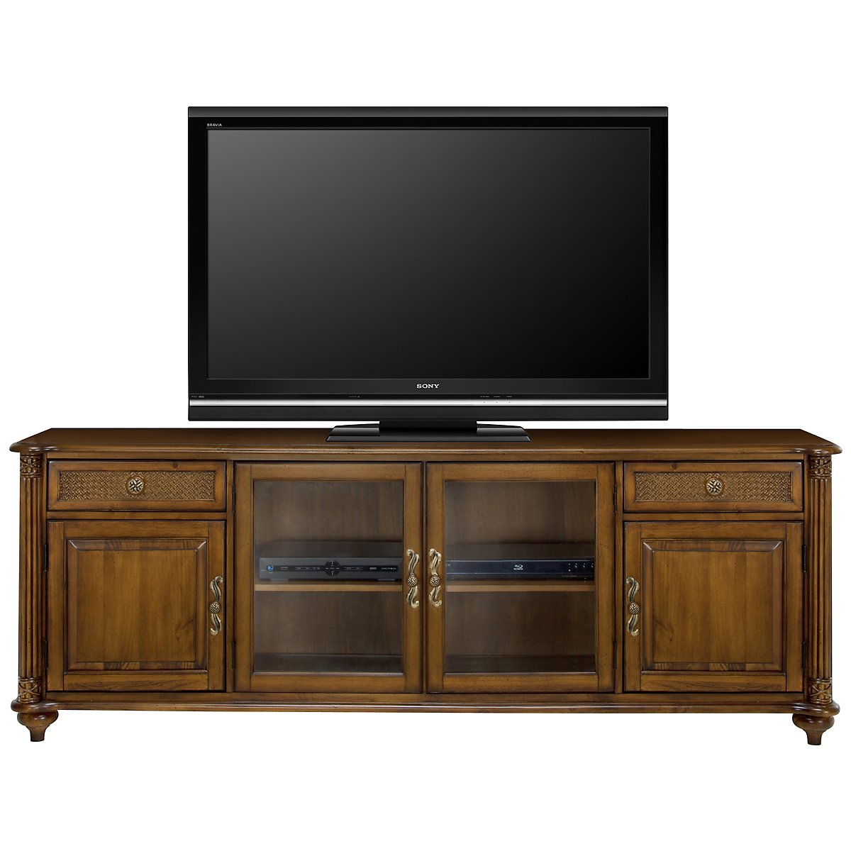 "Palm Mid Tone 83"" TV Stand"