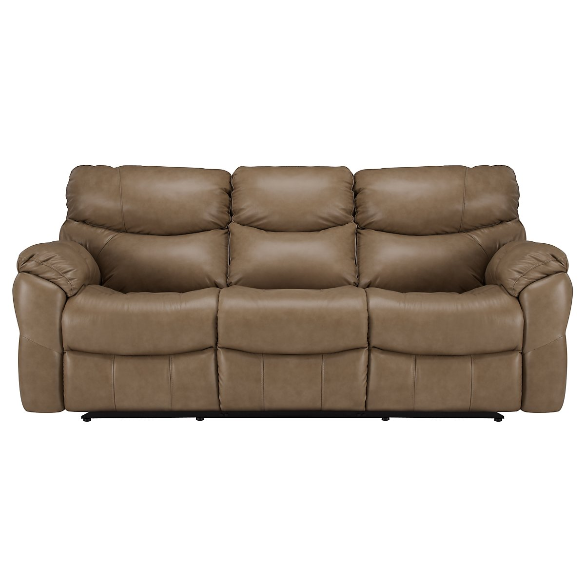 Derek Dark Taupe Leather & Vinyl Reclining Sofa