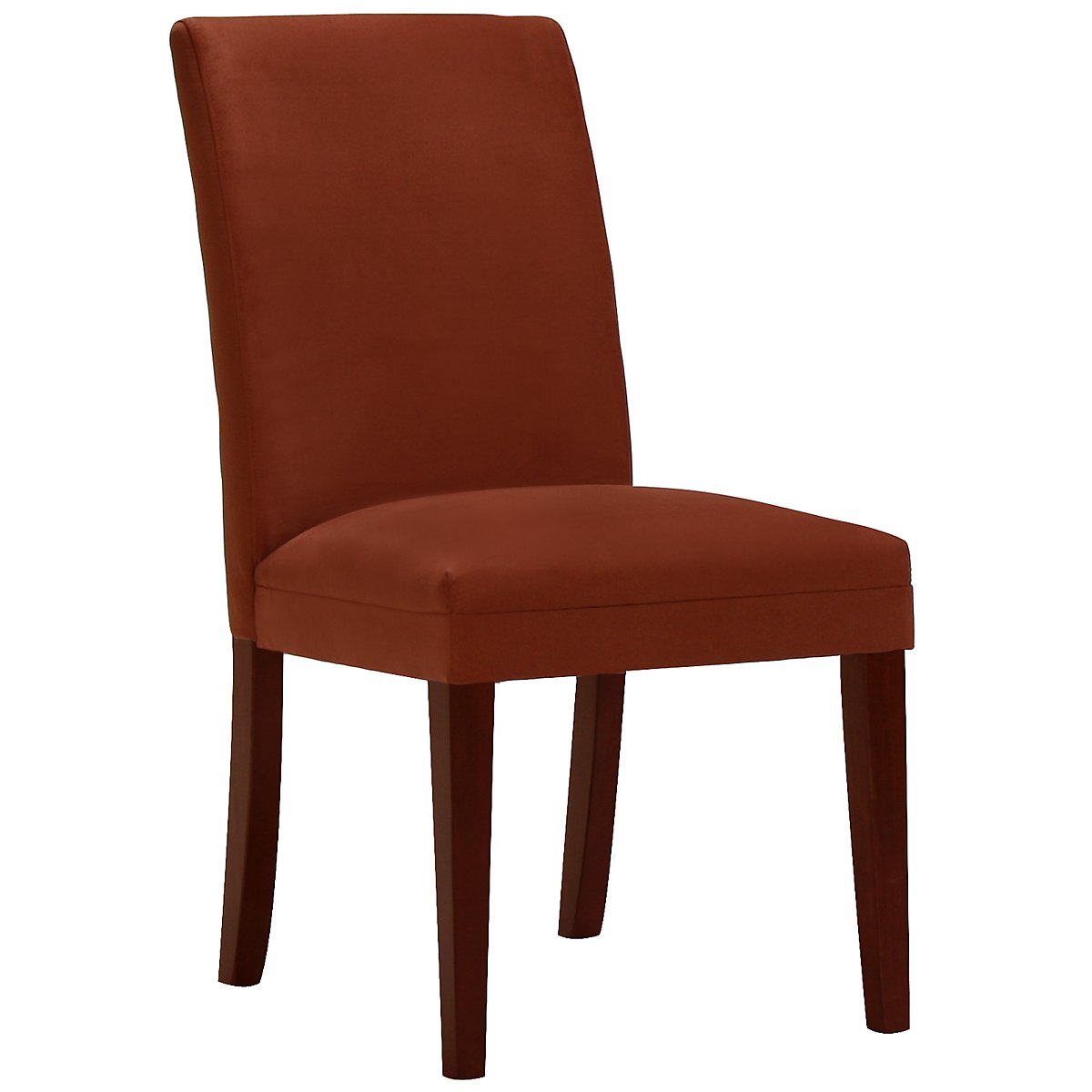 Park Rust Microfiber Upholstered Side Chair
