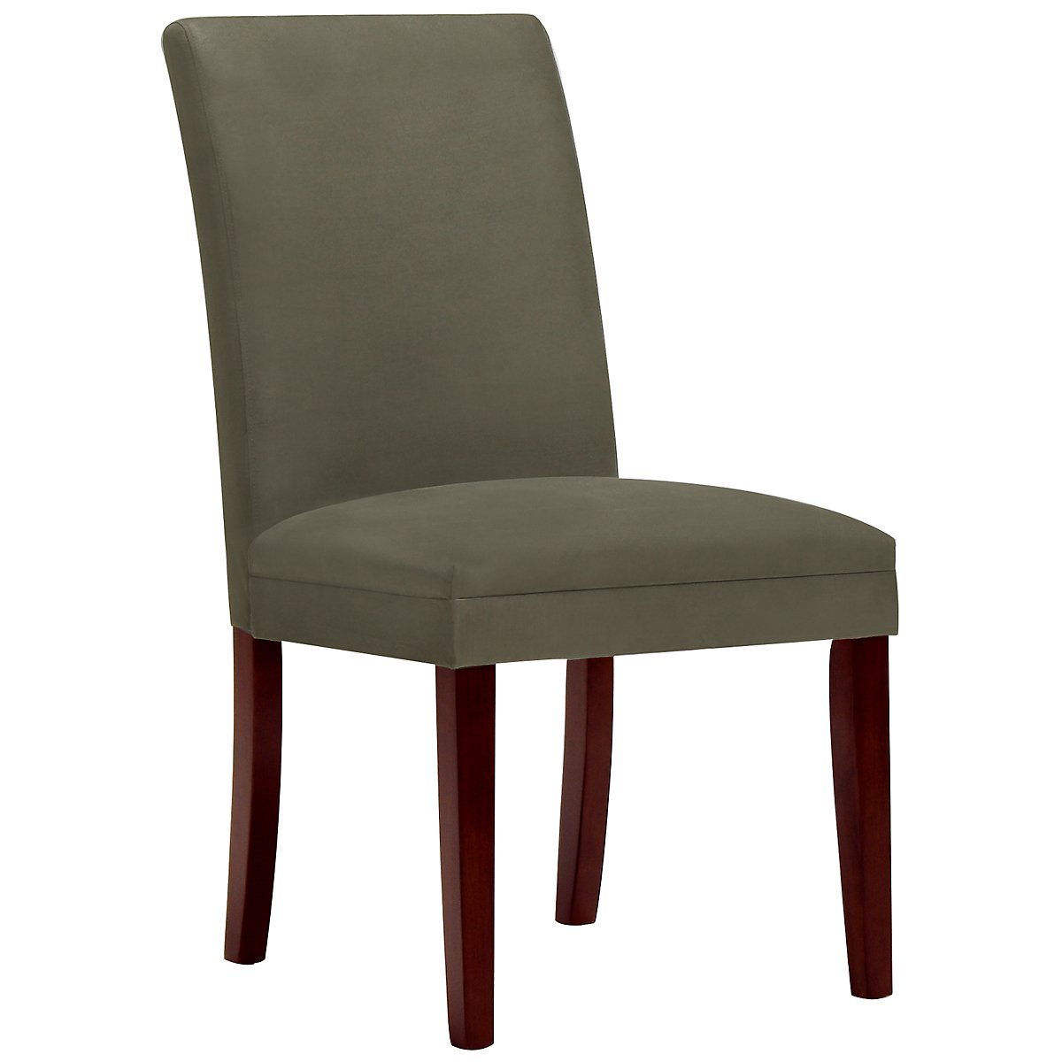 Park Dk Green Microfiber Upholstered Side Chair