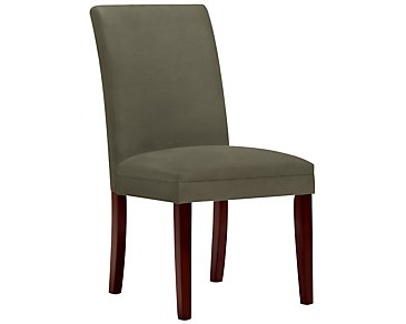 Park Dark Green Microfiber Upholstered Side Chair