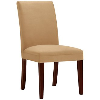 Park Dk Gold Microfiber Upholstered Side Chair