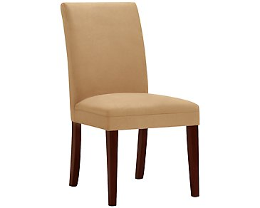 Park Dark Gold Microfiber Upholstered Side Chair