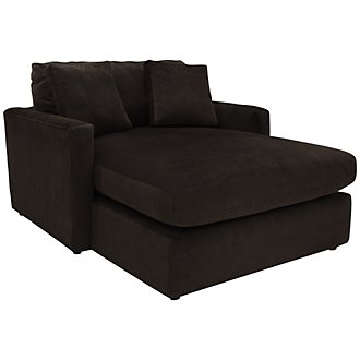 Tara2 Dark Brown Microfiber Chaise